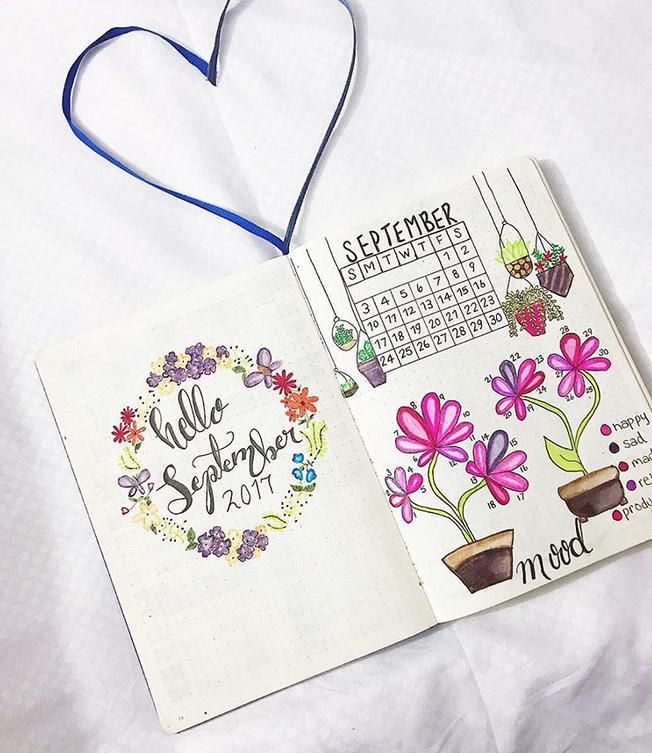 September bullet journal  monthly tracker