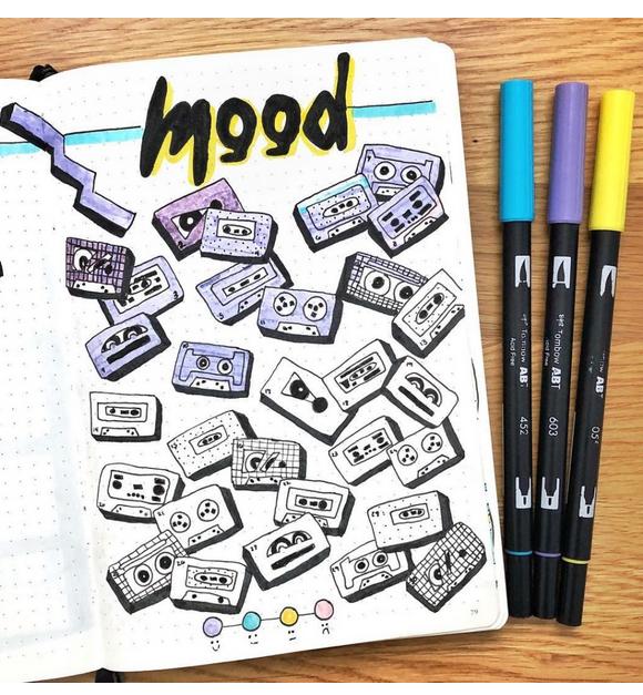 cassette tape mood tracker