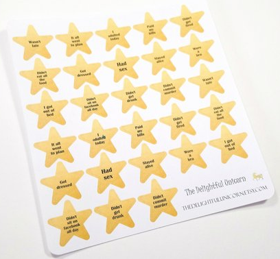 humurous planner stickers for grown ups with audacious words!